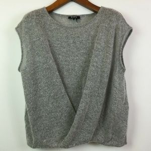 DKNY Large Gray Woven Scoop Neck Top 3W48